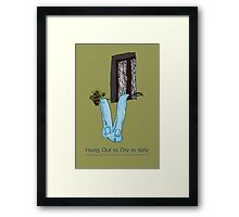 Hung out to dry in Italy Framed Print