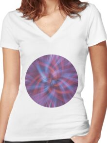 Psychedelic Swirl Women's Fitted V-Neck T-Shirt
