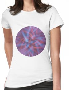 Psychedelic Swirl Womens Fitted T-Shirt