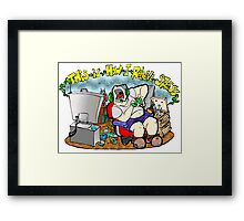 Gamer Stress Framed Print