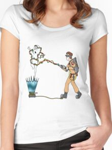 Casper meets The Ghostbusters Women's Fitted Scoop T-Shirt