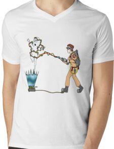 Casper meets The Ghostbusters Mens V-Neck T-Shirt