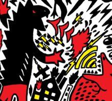 Red Black Yellow Sticker