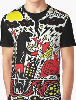 Red Black Yellow Graphic T-Shirt
