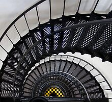 Bodie Island Lighthouse Downward spiral by Jacque Gates