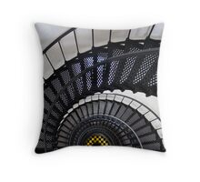 Bodie Island Lighthouse Downward spiral Throw Pillow