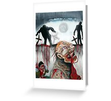 Zombie Moon Greeting Card