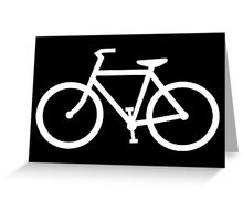 bicycle silhouette Greeting Card