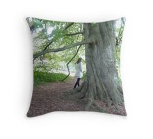 She is on her own and never alone... Throw Pillow