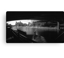 "Pinhole Study of the ""Colonel By"" Canal Canvas Print"