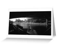 "Pinhole Study of the ""Colonel By"" Canal Greeting Card"