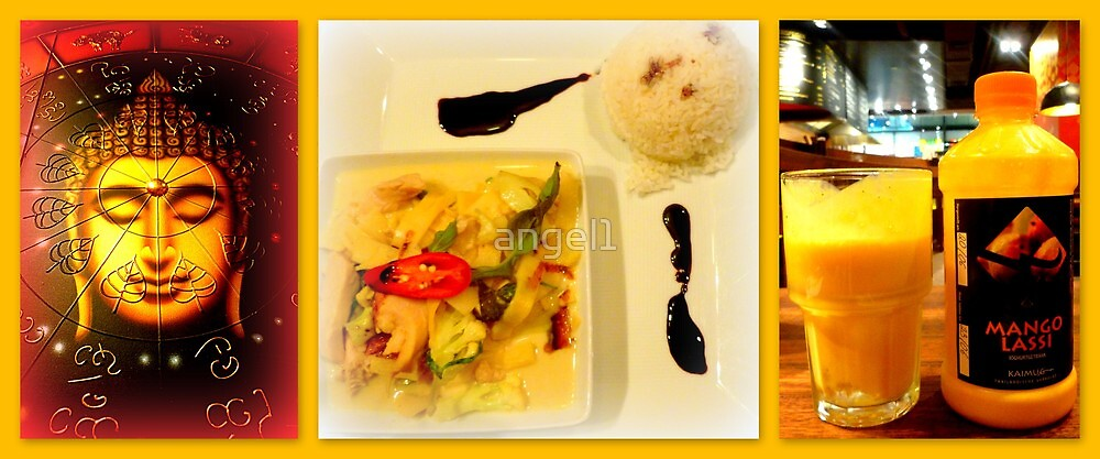 Thai Green Curry & Mango Lassi by ©The Creative  Minds