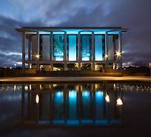National Library Canberra Australia Moody Blue by Kym Bradley