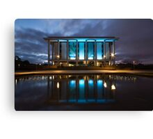 National Library Canberra Australia Moody Blue Canvas Print