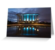 National Library Canberra Australia Moody Blue Greeting Card