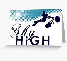 sky high bmx Greeting Card