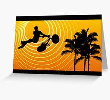 sunscene cycling  Greeting Card