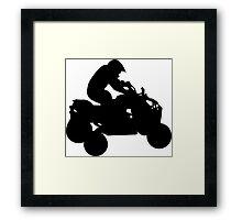 atv silhouette Framed Print