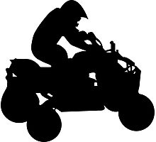 atv silhouette Photographic Print