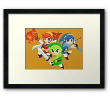 Triforce Heroes Framed Print