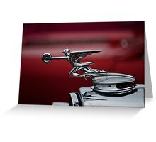 Running Red.  Greeting Card