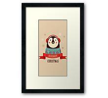 Penguin: Merry Chrismas Framed Print