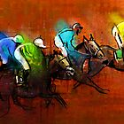 Horses racing 01 by Goodaboom