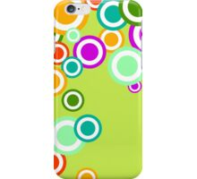 Colorful retro circle flowers design graphic iPhone Case/Skin