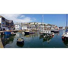 Mevagissey- Inner harbour Photographic Print