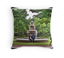 Regents Park: Lovers at the Fountain Throw Pillow