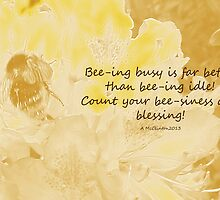 Keeping Bee-zy! by sarnia2