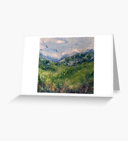 Mountain Field 3 Greeting Card