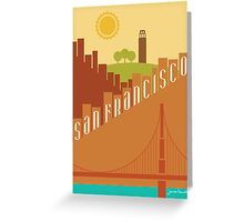 Sunny San Francisco Greeting Card
