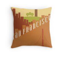 Sunny San Francisco Throw Pillow