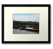 A place far away from troubles Framed Print