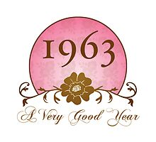 Beautiful 1963 Birthday or Anniversary Gift by thepixelgarden