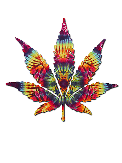 Tie Dye Pot Leaf by turfinterbie