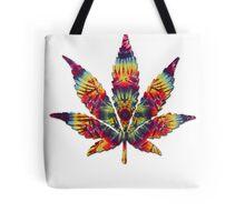 Tie Dye Pot Leaf Tote Bag