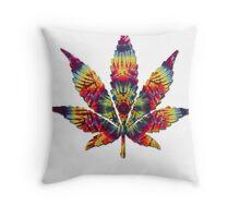 Tie Dye Pot Leaf Throw Pillow