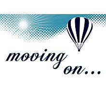 moving on hot air balloon Photographic Print