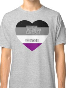 Let's get one thing straight, I'm not - Asexual heart flag Classic T-Shirt