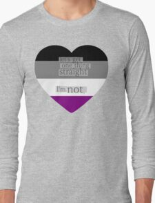 Let's get one thing straight, I'm not - Asexual heart flag Long Sleeve T-Shirt
