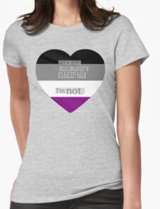 Let's get one thing straight, I'm not - Asexual heart flag Womens Fitted T-Shirt
