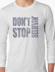 80's Journey Don't Stop Believin' Long Sleeve T-Shirt