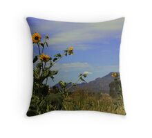 Good Morning Sunflowers Throw Pillow