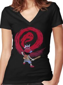 Cosmic Destroyer Women's Fitted V-Neck T-Shirt