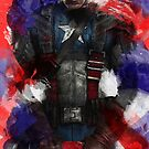 Captain America edit + watercolour effect by laufeyson