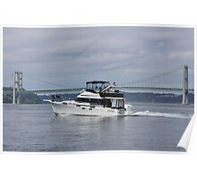 Carpe Diem...Let's Go Now - The Narrows, Puget Sound, Washington Poster