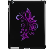 Iced Pink Sea Leaves - Dark Version iPad Case/Skin