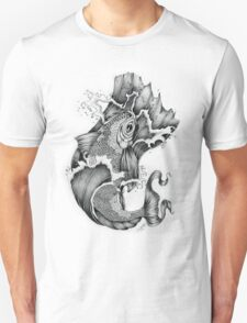 Koi in Graphite Tee and Stickers T-Shirt
